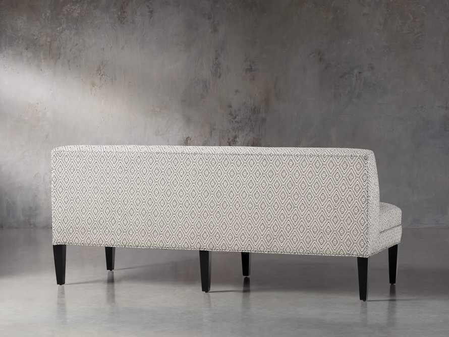 "Eaton Upholstered 80"" Non-Tufted Settee in Davos Night, slide 4 of 5"