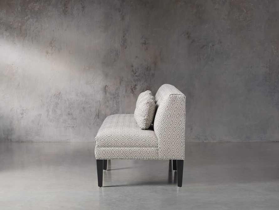 "Eaton Upholstered 80"" Non-Tufted Settee in Davos Night, slide 3 of 5"