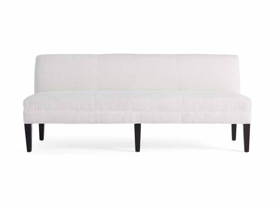 "Eaton (No Toss Pillow) Upholstered Non-Tufted 80"" Settee"