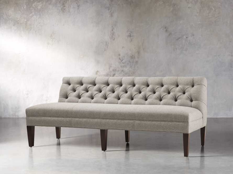 "Eaton Upholstered 80"" Tufted Settee"