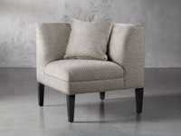"""Eaton Upholstered 32"""" Non-Tufted Corner in Davos Night"""