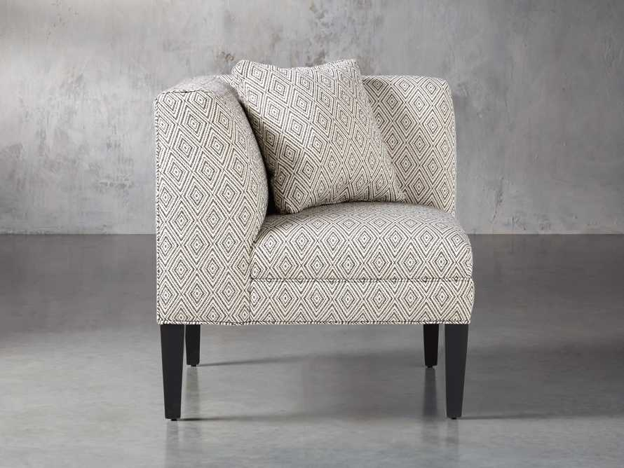 "Eaton Upholstered 32"" Non-Tufted Corner in Davos Night, slide 2 of 6"