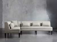 """Eaton Upholstered 109"""" Non-Tufted Banquette in Davos Night"""