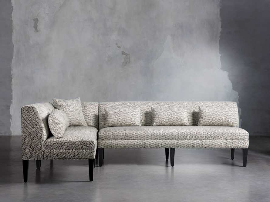 "Eaton Upholstered 112"" Non-Tufted Banquette in Davos Night, slide 1 of 4"