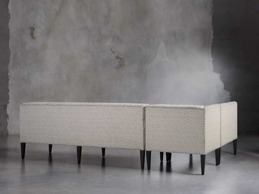 "Eaton Upholstered 112"" Non-Tufted Banquette in Davos Night, slide 2 of 4"