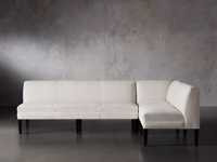 Eaton (No Toss Pillow) Upholstered Non-Tufted Banquette