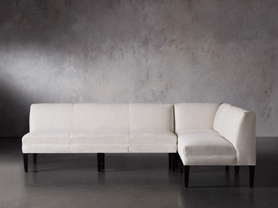 Eaton (No Toss Pillow) Upholstered Non-Tufted Banquette, slide 2 of 9