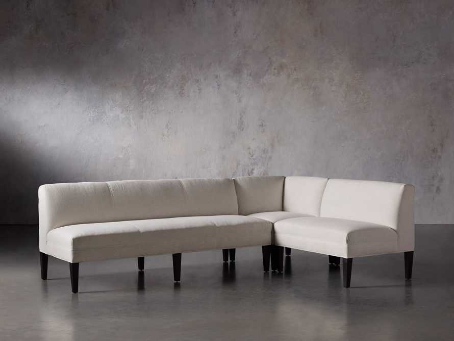 Eaton (No Toss Pillow) Upholstered Non-Tufted Banquette, slide 3 of 9