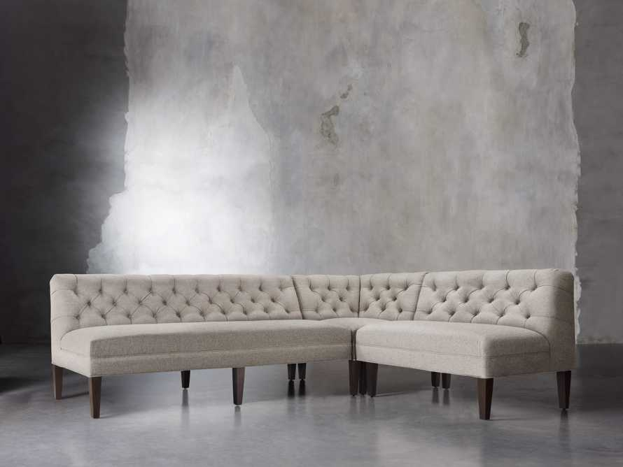 "Eaton Upholstered 112"" Tufted Banquette, slide 2 of 2"