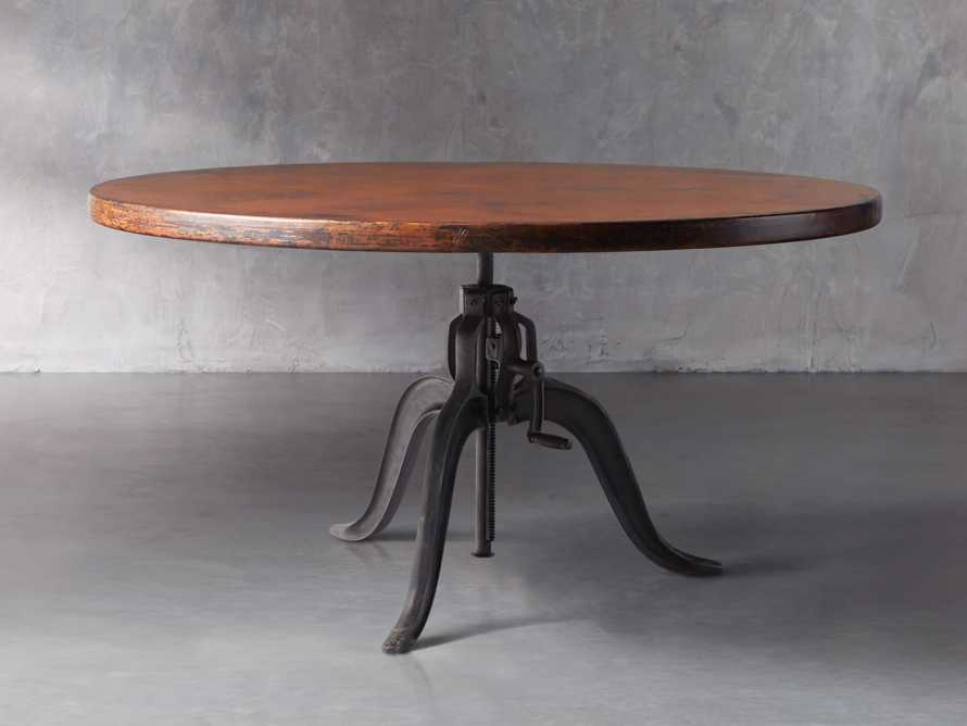 """Edison 36"""" Round Copper Table Top With Small Edison Base, slide 1 of 4"""