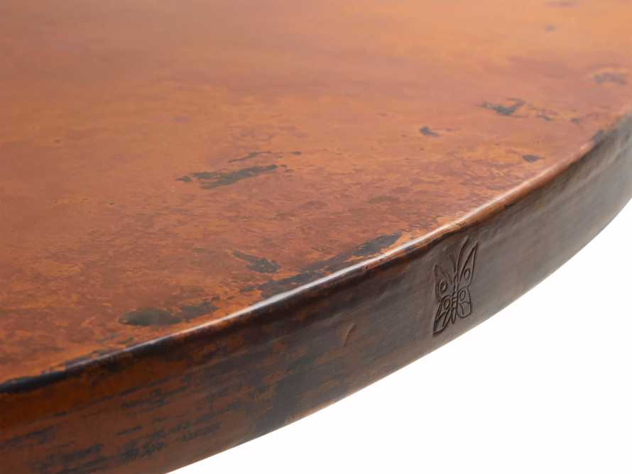 """Edison 36"""" Round Copper Table Top With Small Edison Base, slide 4 of 4"""