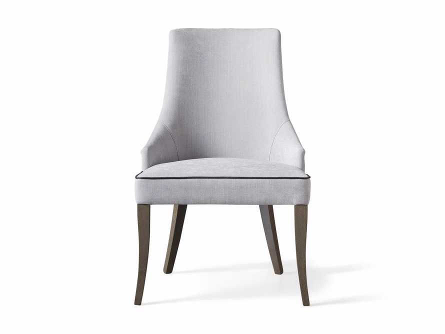 Elisa Upholstered Dining Chair in Colomba Grey, slide 6 of 7