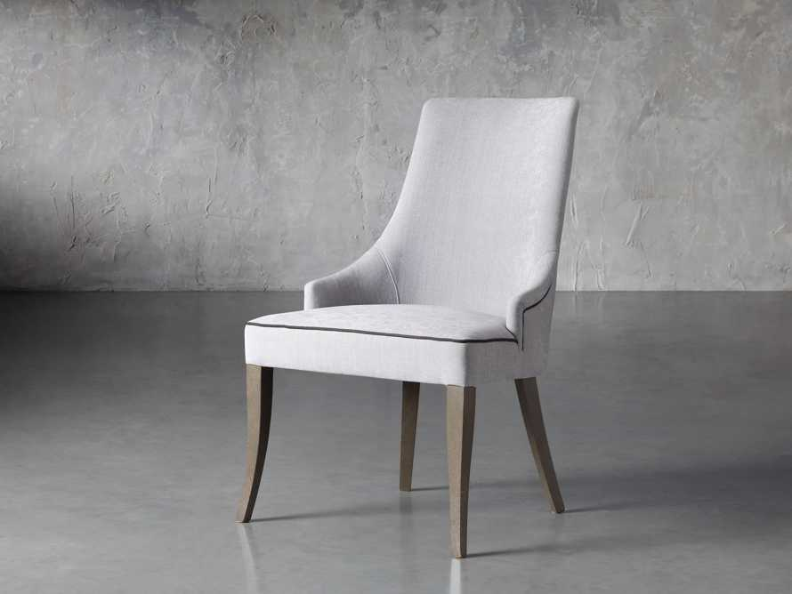 Elisa Upholstered Dining Chair in Colomba Grey, slide 2 of 7