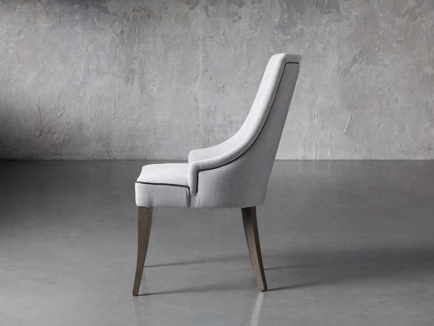 Elisa Upholstered Dining Chair in Colomba Grey, slide 3 of 7