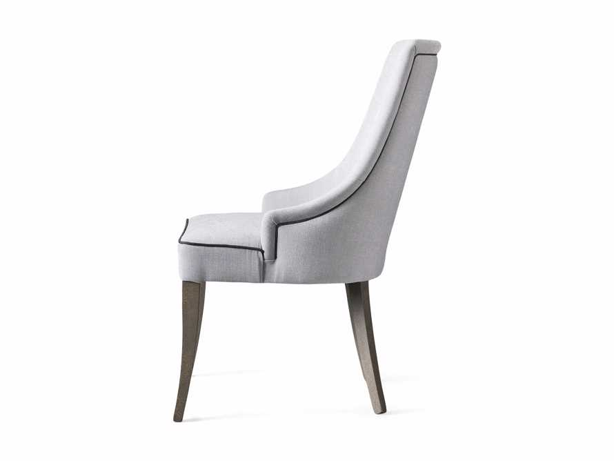 Elisa Upholstered Dining Chair in Colomba Grey, slide 7 of 7