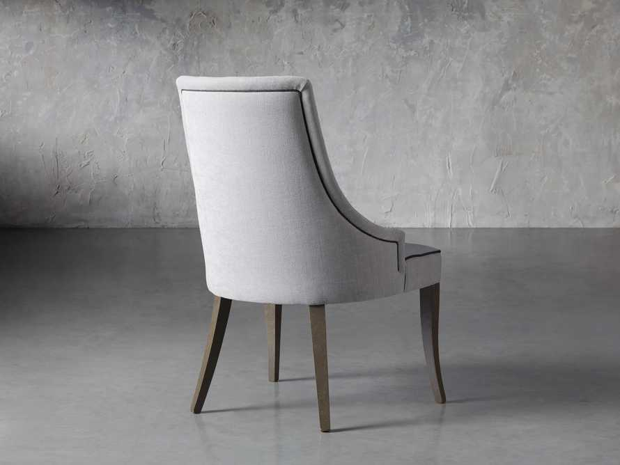 Elisa Upholstered Dining Chair in Colomba Grey, slide 4 of 7