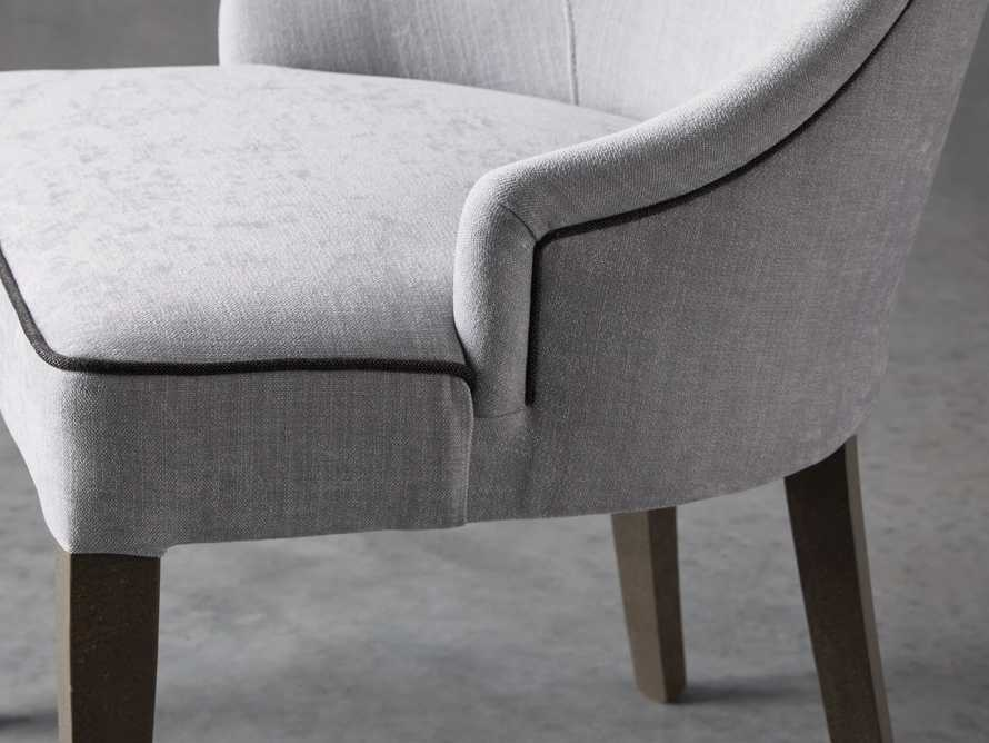 Elisa Upholstered Dining Chair in Colomba Grey, slide 5 of 7