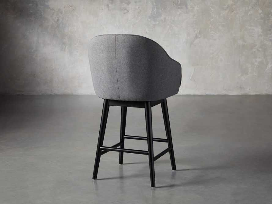 "Emily 23"" Swivel Counter Stool in Sunday Grey"