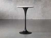 "Enzo 28"" Round White Marble Bar Table"