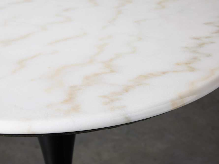 """Enzo 28"""" Round White Marble Bar Table, slide 3 of 10"""