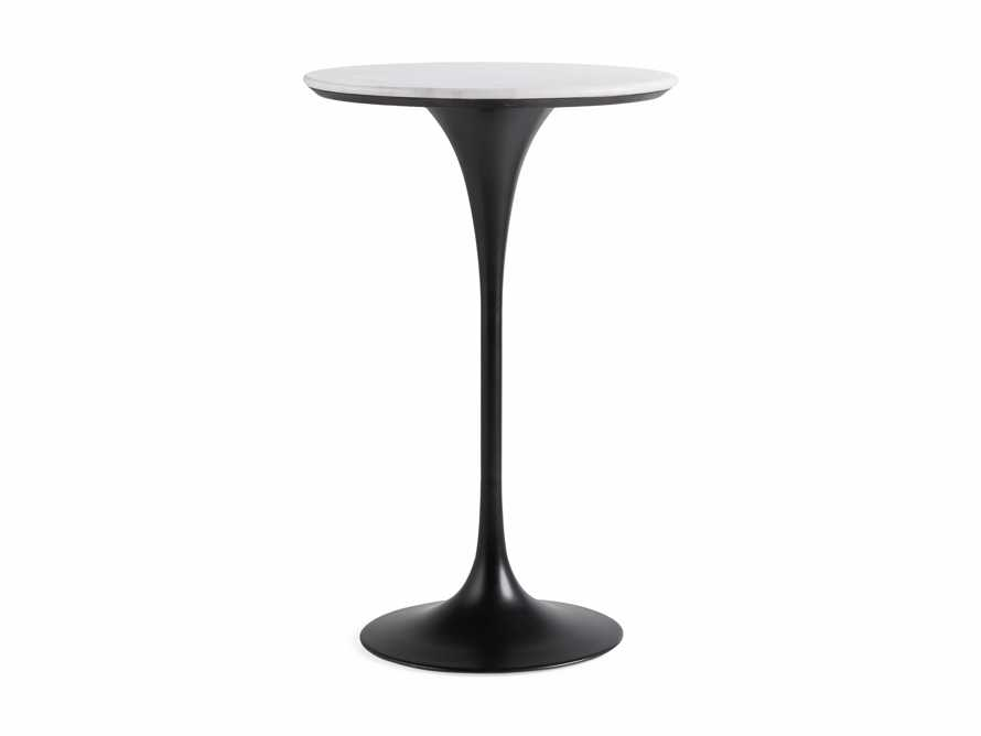 """Enzo 28"""" Round White Marble Bar Table, slide 8 of 9"""