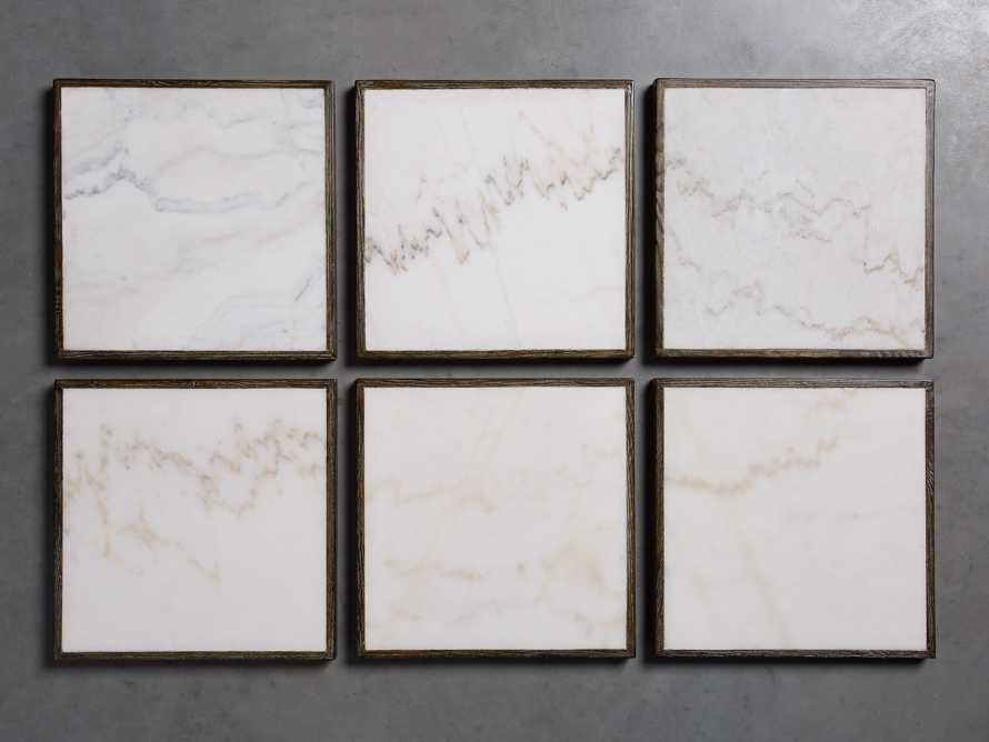 """Enzo 28"""" Round White Marble Bar Table, slide 10 of 10"""