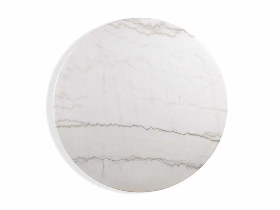 """Enzo 39"""" Round White Marble Dining Table, slide 8 of 9"""