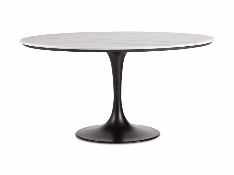 "Enzo 39"" Round White Marble Dining Table, slide 5 of 9"