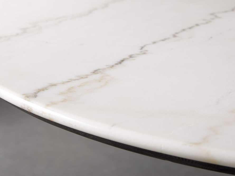 "Enzo 39"" Round White Marble Dining Table, slide 3 of 9"