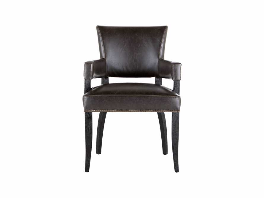 Pleasing Fallyn Faux Leather Dining Arm Chair Short Links Chair Design For Home Short Linksinfo