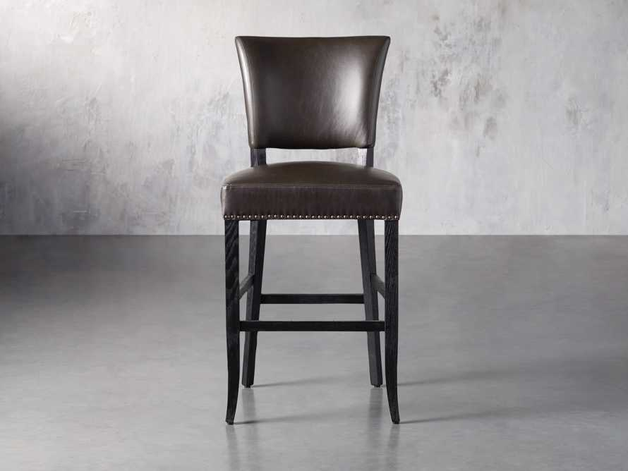 "Fallyn 21"" Faux Leather Barstool, slide 1 of 7"