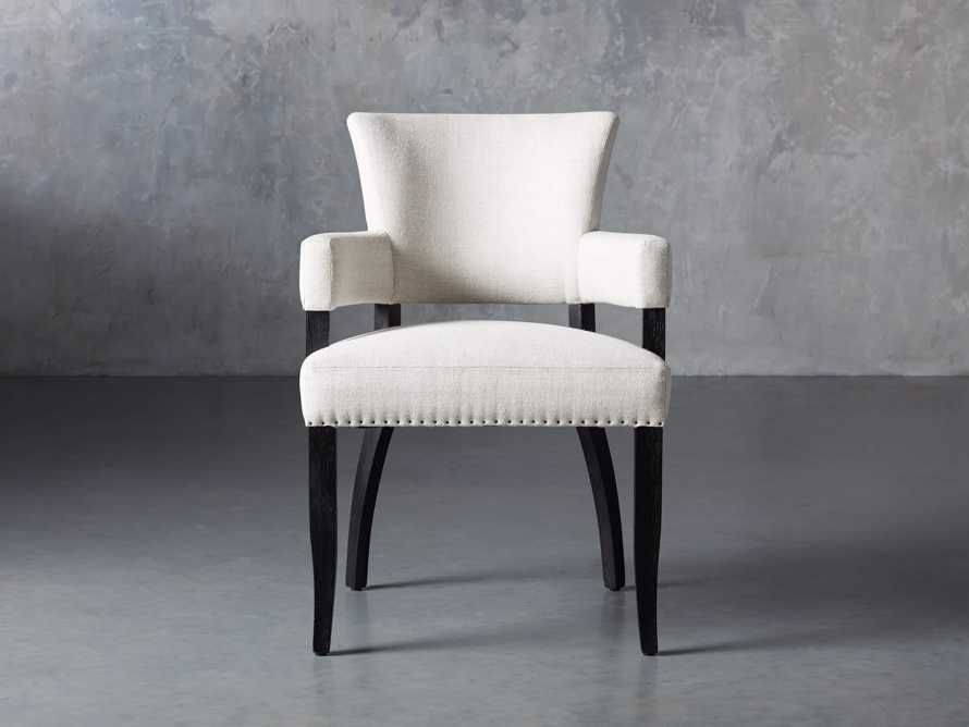 "Fallyn 24"" Dining Arm Chair in Linen Natural, slide 2 of 10"