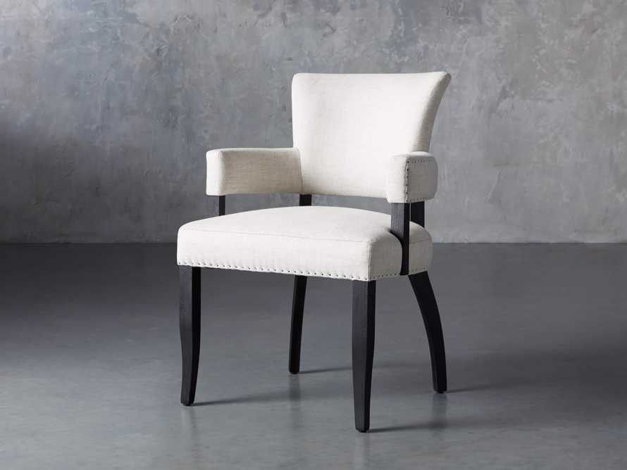 "Fallyn 24"" Dining Arm Chair in Linen Natural, slide 3 of 10"