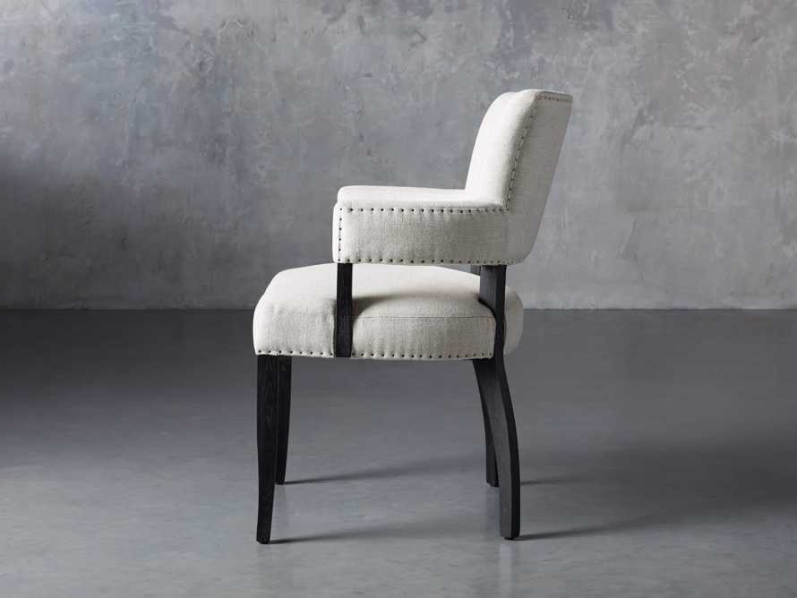 Fallyn Dining Arm Chair in Linen Natural, slide 4 of 10