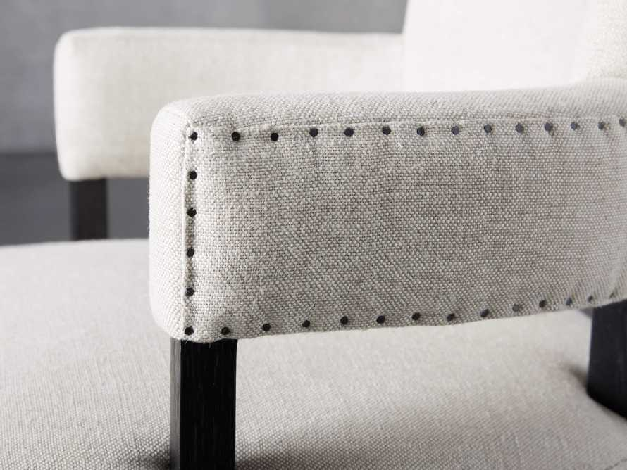 Fallyn Dining Arm Chair in Linen Natural, slide 6 of 10