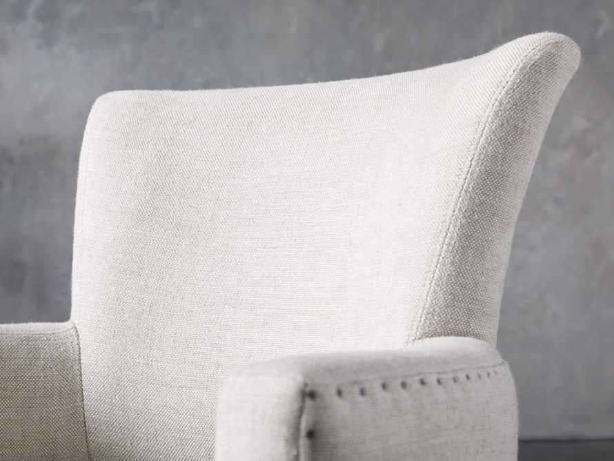 Fallyn Dining Arm Chair in Linen Natural, slide 7 of 10