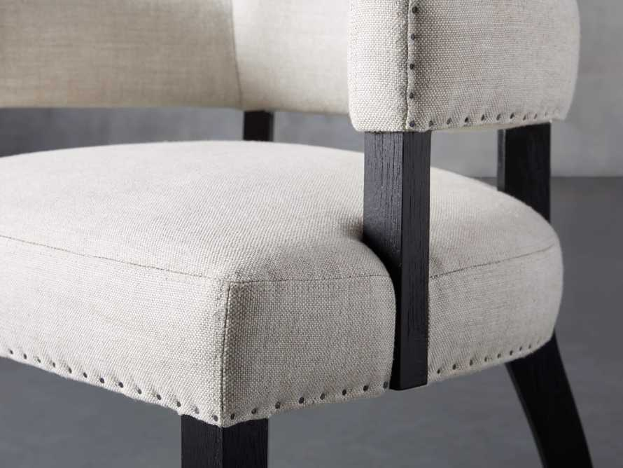 Fallyn Dining Arm Chair in Linen Natural, slide 8 of 10
