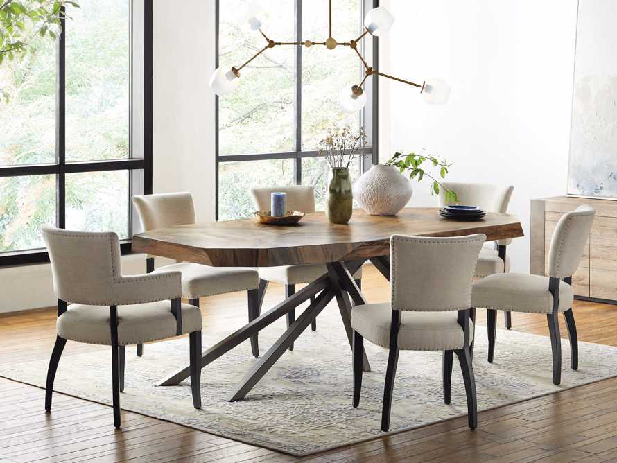 Fallyn Dining Arm Chair in Linen Natural, slide 8 of 11