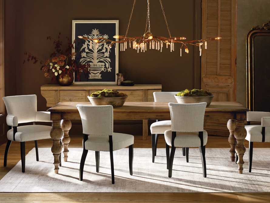Fallyn Dining Arm Chair in Linen Natural, slide 1 of 12