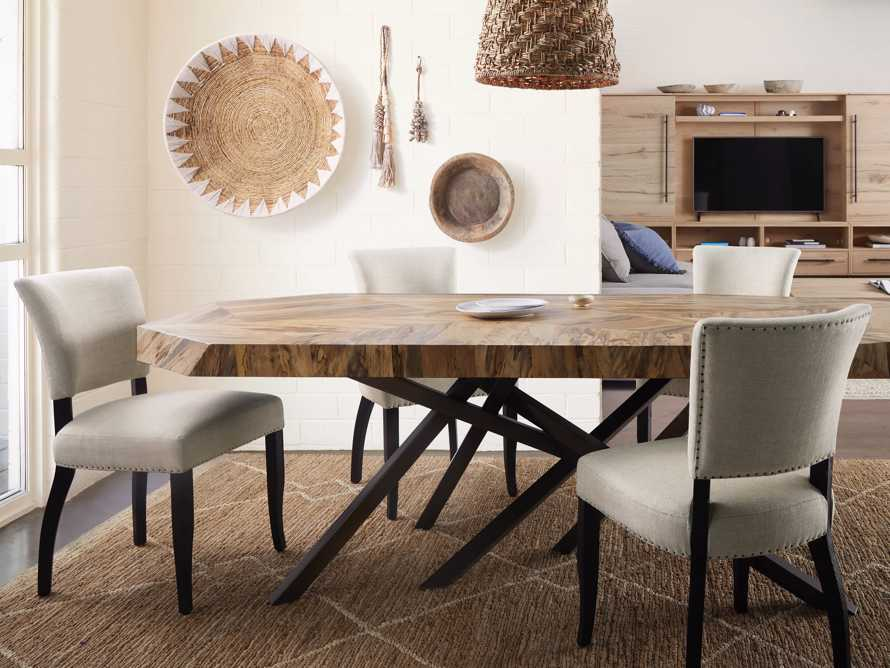 Fallyn Dining Side Chair in Linen Natural, slide 9 of 11
