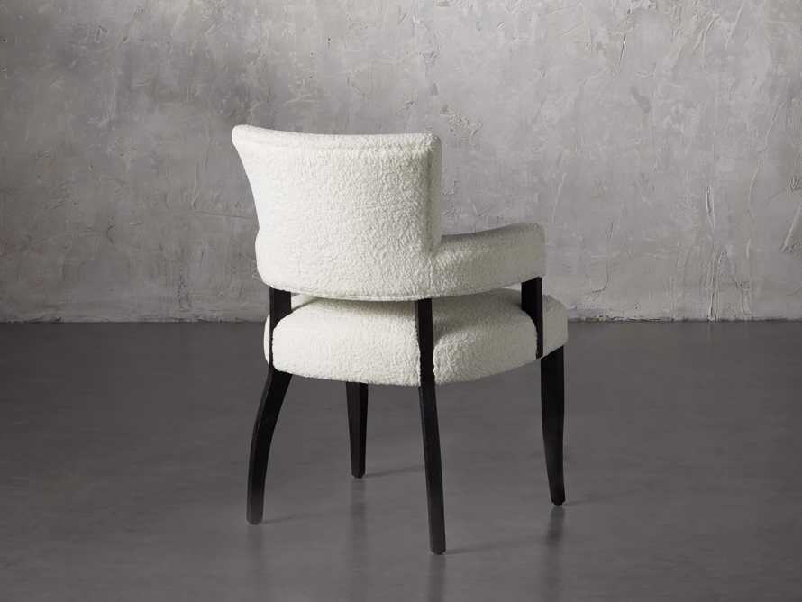 "Fallyn 21"" Dining Arm Chair in Faux Shearling"