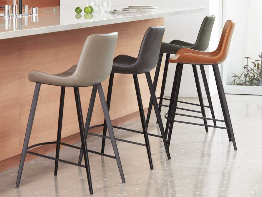 Gage Counter Stool in Carbon, slide 6 of 8