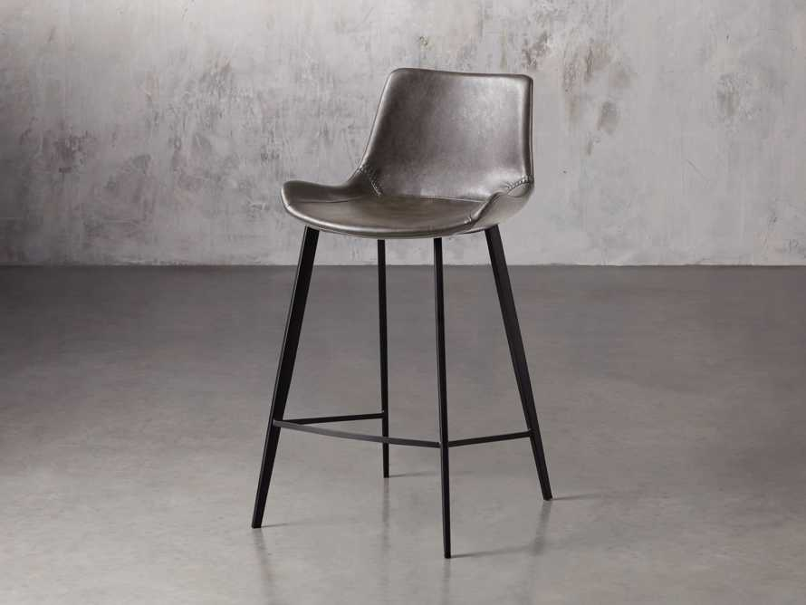 "Gage 20"" Counter Stool in Carbon, slide 2 of 7"