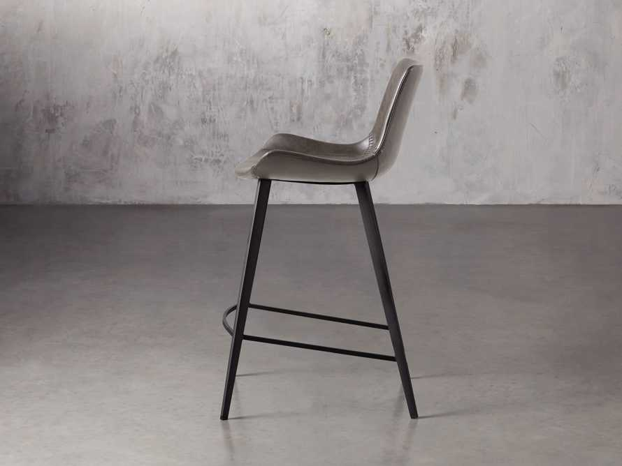 "Gage 20"" Counter Stool in Carbon, slide 3 of 7"