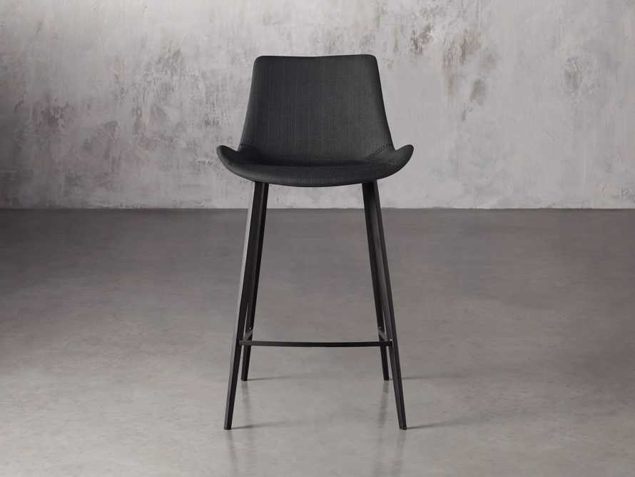 "Gage Upholstered 20"" Counter Stool in Coal, slide 1 of 6"