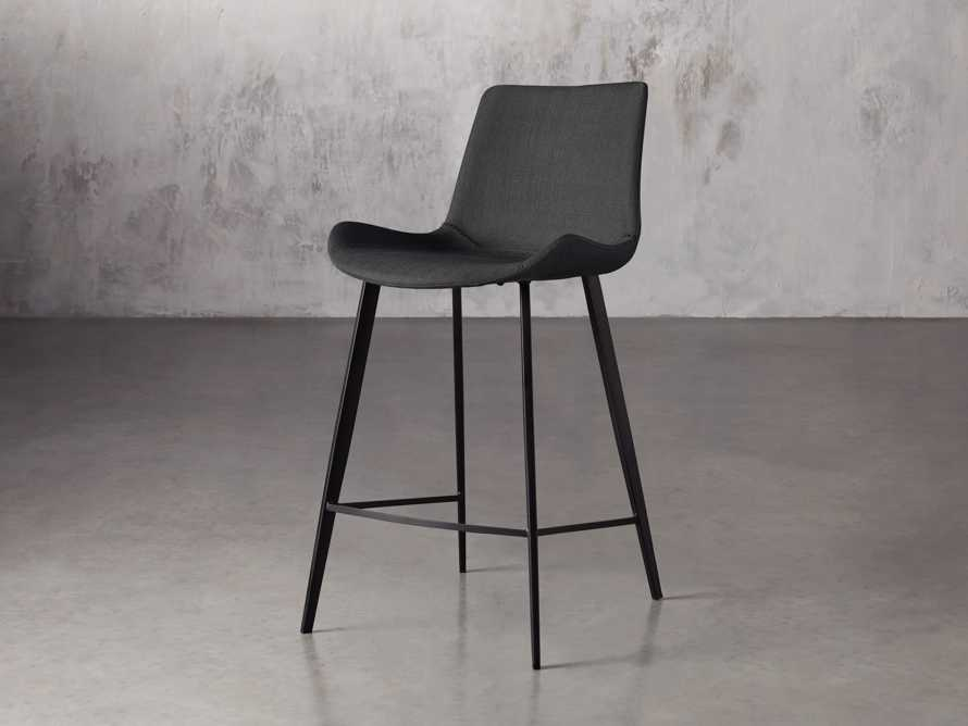 "Gage Upholstered 20"" Counter Stool in Coal, slide 2 of 6"