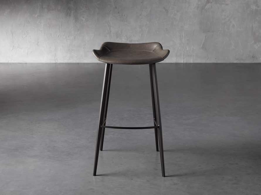 Gage Backless Bar Stool in Carbon, slide 1 of 7