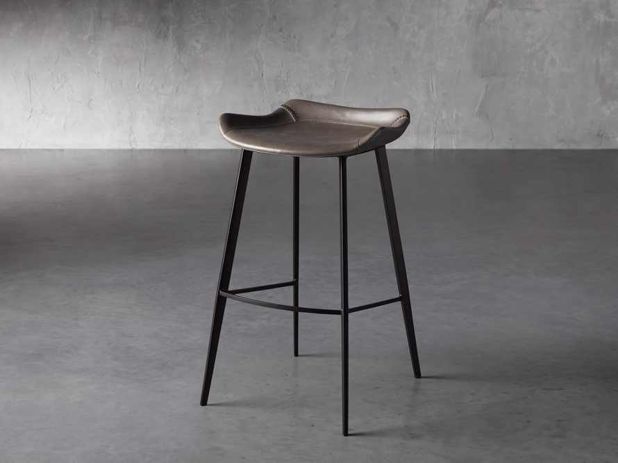 Gage Backless Bar Stool in Carbon, slide 2 of 7