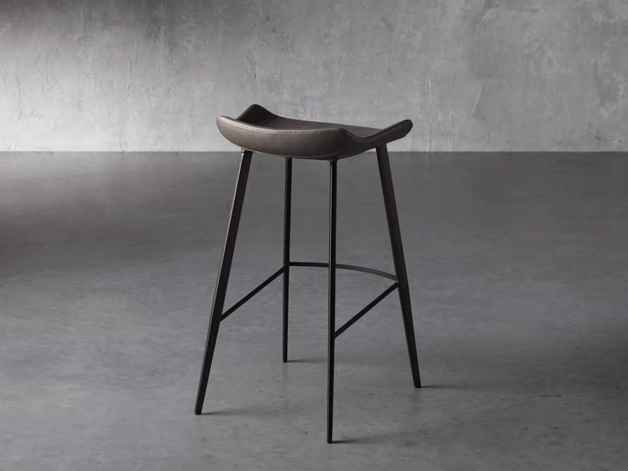 Gage Backless Bar Stool in Carbon, slide 4 of 7
