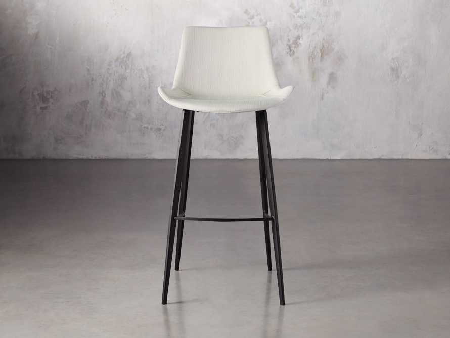 "Gage Upholstered 20"" Barstool in Fawn, slide 1 of 6"
